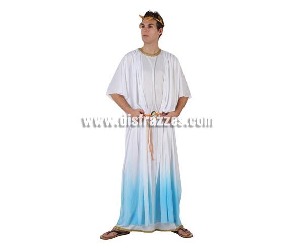 Disfraz de Romano azul para hombre talla standar M-L = 52/54. Incluye túnica, corona y cinturón.