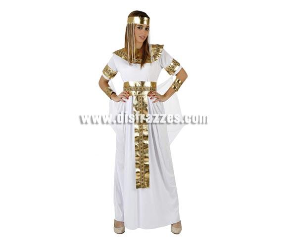 Disfraz de Reina Faraona para mujer. Talla 2 ó talla standar M-L 38/42. Incluye disfraz completo. Disfraz de Cleopatra Reina del Nilo o Reina de Egipto para mujer.