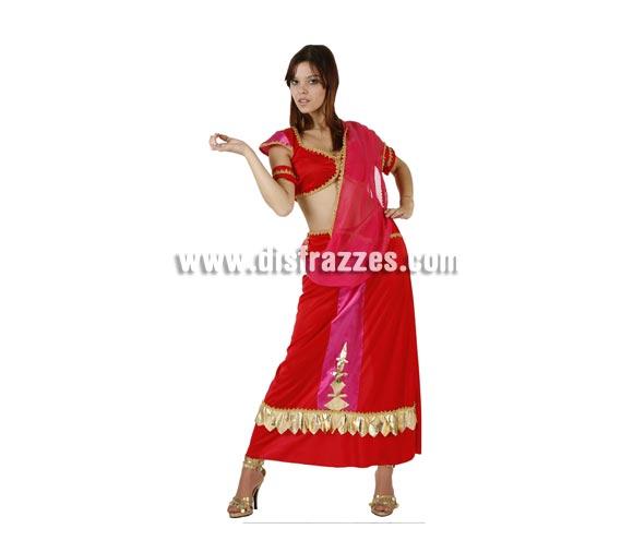 Disfraz de Hindú para mujer. Talla 2 ó talla standar M-L 38/42. Incluye traje completo. Podría servir para disfrazarse de Bollywood.