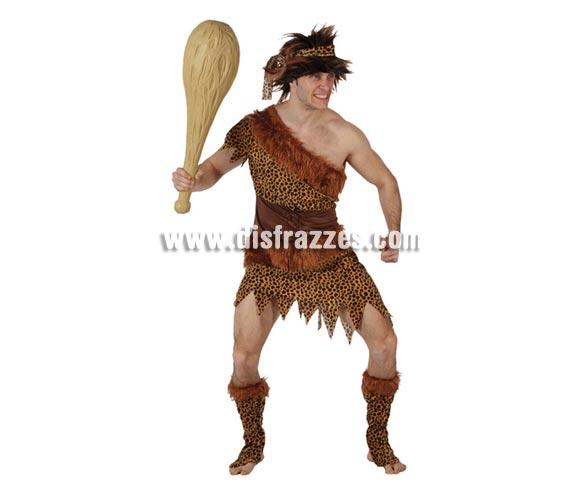 Disfraz barato de Troglodita o Cavernícola para hombre. Talla XL = 54/58. Incluye traje, turbante y cubrebotas.
