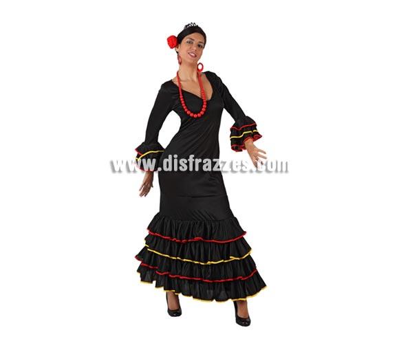 Disfraz de Faralae negro para mujer. Talla 3 ó talla XL = 44/48. Incluye vestido y tocado. Éste es un bonito traje de Andaluza o Sevillana de mujer.