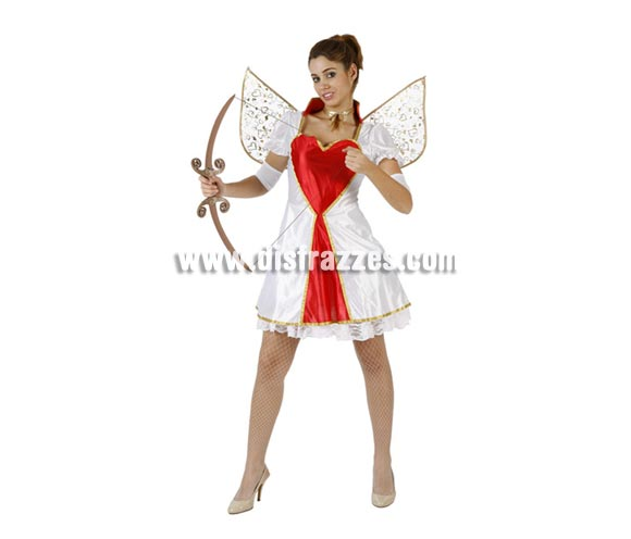 Disfraz de Cupido Sexy para mujer. Talla 2 ó talla Standar M-L 38/42. Incluye traje completo. Arco NO incluido, podrás encontrar en nuestra sección de Complementos. Perfecto para Despedidas de Soltera.