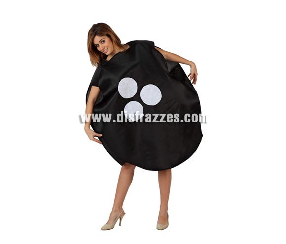 Disfraz de Bola de Bolos Americanos para mujer. Talla 2 ó talla Standar M-L 38/42. Incluye disfraz completo. Al ser un  disfraz ancho también sirve para hombres.