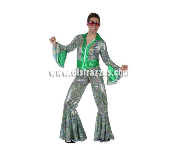 Disfraz de Discotequero o de Disco Man para hombre. Talla 2 ó talla standar M-L 52/54. Incluye disfraz. Gafas NO incluidas, podrás encontrar gafas en nuestra sección de Complementos.