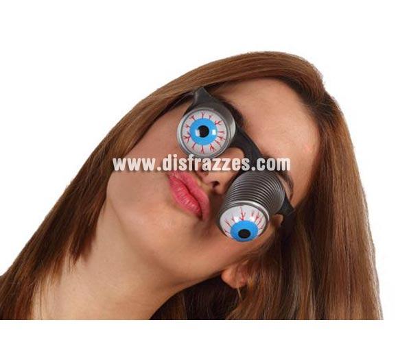 Gafas ojos colgantes con muelle.