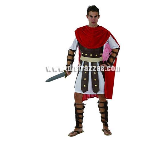 Disfraz de Gladiador para hombre. Talla 2 ó talla Standar M-L = 52/54. Incluye disfraz completo. Espada NO incluida, podrás encontrar en nuestra sección de Complementos.También podría llamarse disfraz de Romano para hombre.