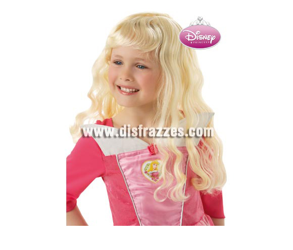 Peluca de la Bella Durmiente para niñas. Peluca con licencia de Disney.