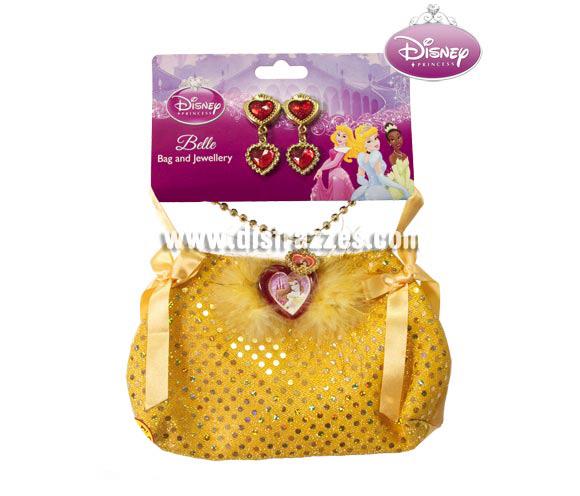 Bolso con joyas de la Bella para niñas. Contiene pendientes, collar y bolso de la Bella. Perfecto como regalo.
