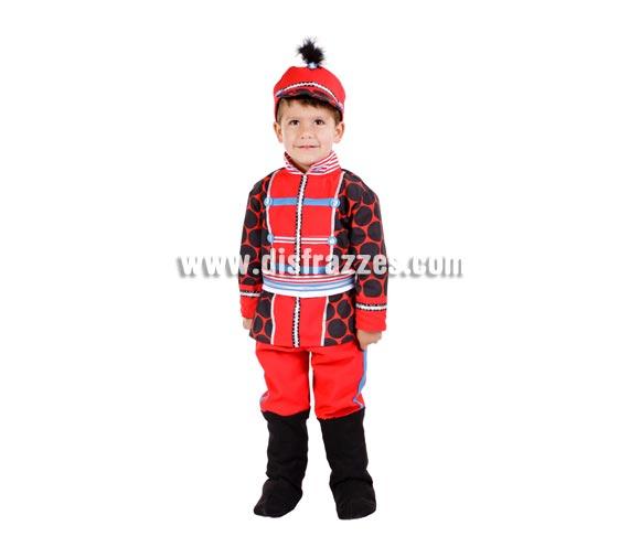 Disfraz de Soldadito de Plomo para niños. Varias tallas. Contiene disfraz completo con gorro. Alta calidad,  MADE IN SPAIN.