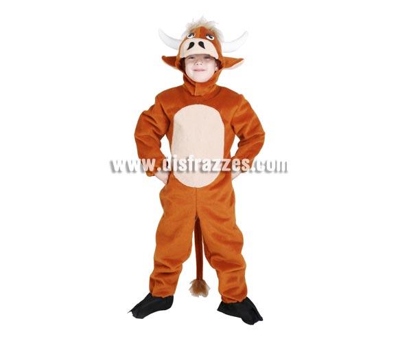 Disfraz de Buey adulto. Talla standar de hombre. Alta calidad, hecho en España. Incluye mono con rabo y capucha con forma de buey. Disfraz de Buey del Belén para Navidad. Es igual que el de la foito, pero en talla de adulto.