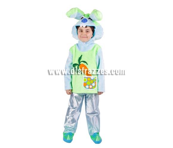 Disfraz de Conejito para niños - Varias tallas. Contiene disfraz completo. Alta calidad. MADE IN SPAIN. Para que los niños puedan jugar al cuento de Alicia en el País de las Maravillas y desarrollar su imaginación.