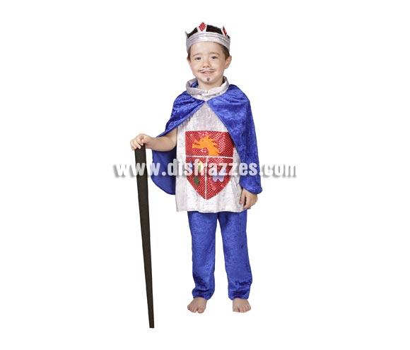 Disfraz de Príncipe fantasía para niños. Varias tallas. Contiene pantalón, camisa con capa y corona. Perfecto para representaciones de teatro en el Cole y paqra Ferias Medievales.