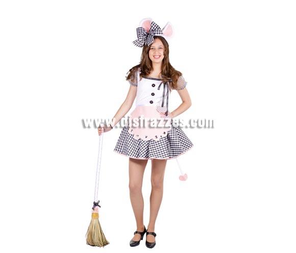Disfraz de la Ratita presumida mujer - MADE IN SPAIN. Alta Calidad. Talla Universal de mujer. Incluye vestido y gorro.