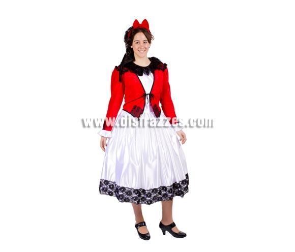 Disfraz de Goyesca adulta para la Feria de San Isidro. Alta calidad. Hecho en España. Talla única 40/44. Incluye red y tocado de la cabeza, camisa, chaqueta y falda.