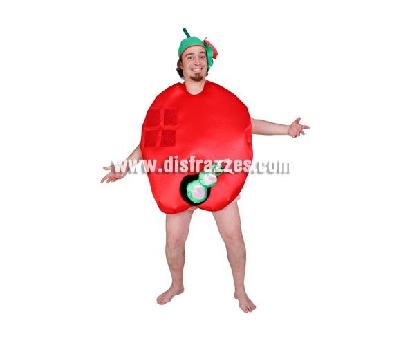 Disfraz de Manzana para adultos. Talla Universal adultos. Incluye gorro y disfraz de Manzana que es como un babero.