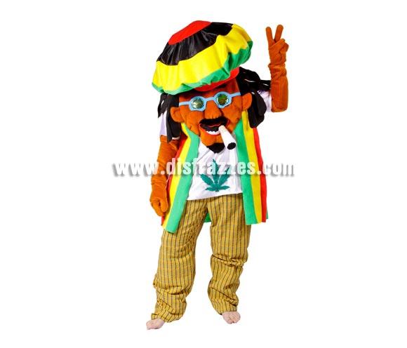 Disfraz de Rastafari para adultos - Cara tapada. Talla Universal adultos. Incluye disfraz completo. Con éste disfraz no te ven la cara y tú ves a través del gorro por una rejilla que casi no se aprecia. Disfraz de Bob Marley.