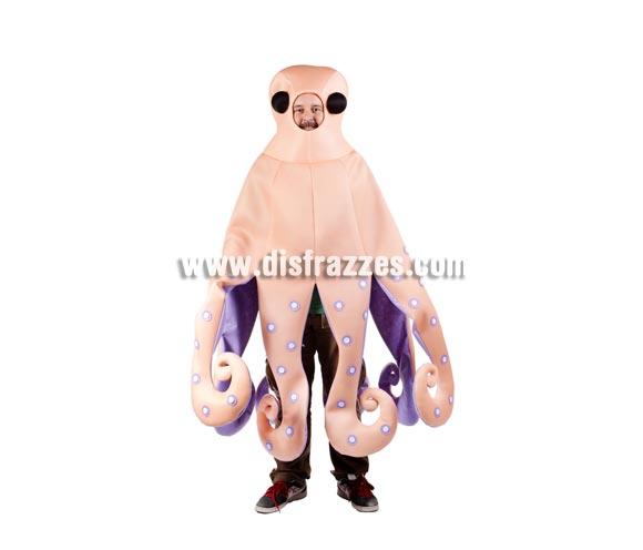 Disfraz del Pulpo Paul adulto de color rosado. Talla estándar de adultos. Incluye disfraz de Pulpo.