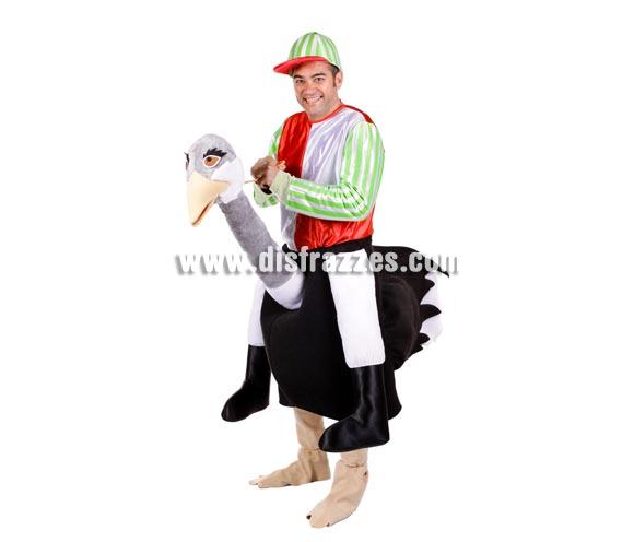Disfraz barato de Jockey de Avestruz para adultos