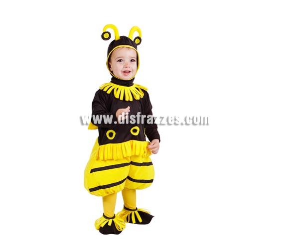 Disfraz de Abejita o Abeja bebé para Carnaval. Talla de 18 meses. Incluye disfraz y capucha. Buena calidad. Hecho en España.