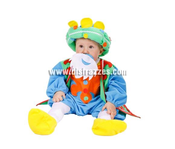 Disfraz o Pelele de Rey Mago para bebés 10 meses. Incluye Gorro o turbante, pelele, cubrepies y barba.