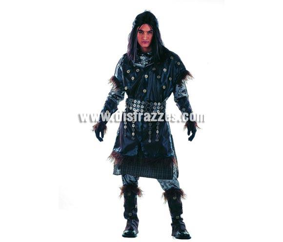 Disfraz de Príncipe de los Elfos Extralujo. Alta calidad en telas y acabados. Fabricado en España. Disponible en varias tallas. Incluye camisa, pantalón, cinturón, puños, botas, túnica, casaca y capucha. También Disfraz de Caballero o Guerrero Medieval.