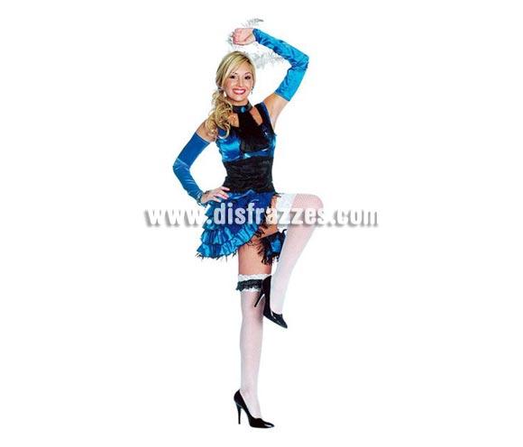 Disfraz de Chica Salon Sexy Show. Altísima calidad. Incluye vestido, corbata, manguitos y liga. Disponible en varias tallas.