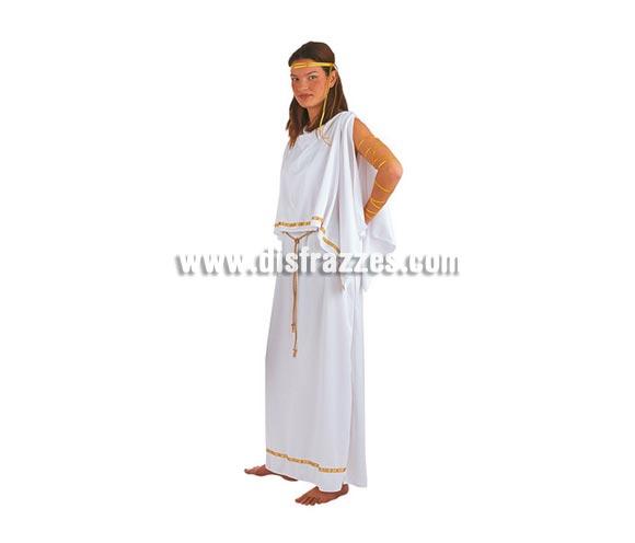 Disfraz de Griega adulta Deluxe. Alta calidad. Hecho en España. Disponible en varias tallas. Incluye vestido, cinturón, cinta cabeza y cinta brazos. También se usa para Belén en Navidad.