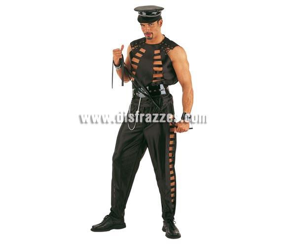 Disfraz de Sado adulto Deluxe. Alta calidad. Hecho en España. Disponible en varias tallas. Incluye camisa, pantalón, gorra y cinturón. Látigo NO incluido, podrás verlo en la sección Complementos.