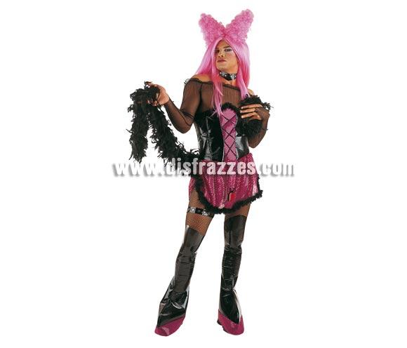 Disfraz de Drag Queen adulto Deluxe. Alta calidad. Hecho en España. Incluye camisa, falda, corpiño y cubrebotas. Peluca y Boa NO incluidas, podrás verlas en la sección Pelucas y Complementos.