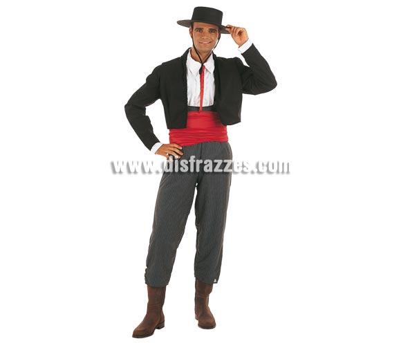 Disfraz de Cordobés adulto Deluxe. Alta calidad. Hecho en España. Disponible en varias tallas. Incluye pantalón, chaqueta con camisa y fajín. Sombrero NO incluido, podrás verlo en la sección Complementos.