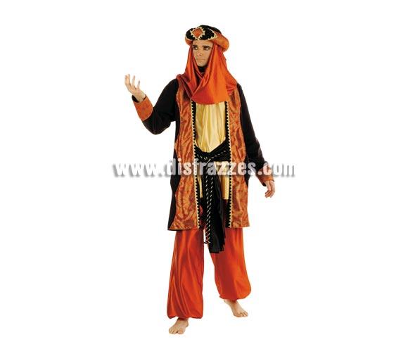 Disfraz de Tuareg Caldera Deluxe. Alta calidad. Hecho en España. Disponible en varias tallas. Incluye pantalón, turbante, casaca con camisa y cinturón. Disfraz de Paje para Belén de Navidad.