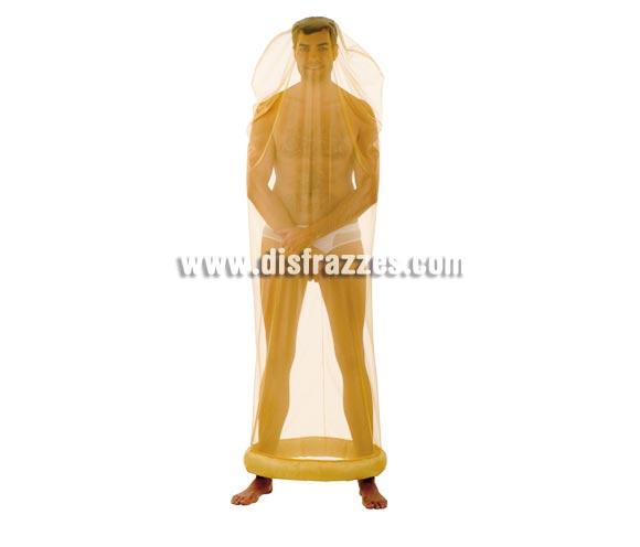 Disfraz de Preservativo o de Condón adulto Deluxe. Alta calidad. Hecho en España. Disponible en varias tallas. Incluye traje completo.