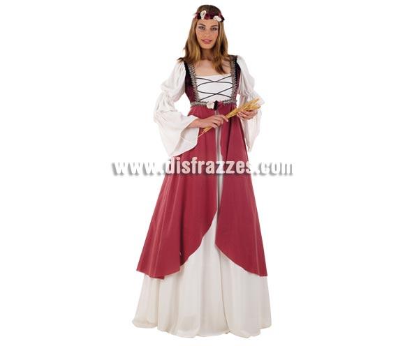 Disfraz de Clarisa Medieval adulta Deluxe. Alta calidad. Hecho en España. Disponible en varias tallas. Incluye vestido y cinta de la cabeza. Espiga NO incluida.