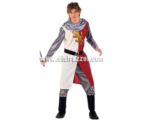 Disfraz de Cid Medieval adulto Deluxe. Alta calidad. Hecho en España. Disponible en varias tallas. Incluye capucha, pantalón con cubrebotas y casaca con capa y cinturón. Espada NO incluida, podrás verla en la sección Complementos.