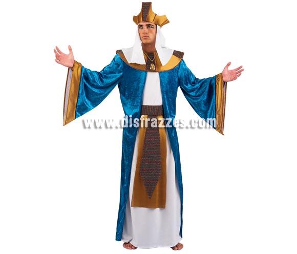 Disfraz de Faraón Egipcio adulto Deluxe. Alta calidad. Hecho en España. Disponible en varias tallas. Incluye cinturón, túnica y corona. Disfraz de Ramses o Tutankamon.