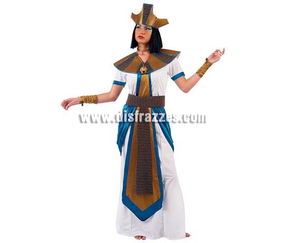 Disfraz de Faraona adulta Deluxe. Alta calidad. Hecho en España. Disponible en varias tallas. Incluye puños, corona y vestido con cinturón.