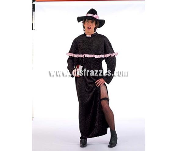 Disfraz de Cura Fashion adulto Deluxe. Alta calidad. Hecho en España. Disponible en varias tallas. Incluye túnica y gorro.