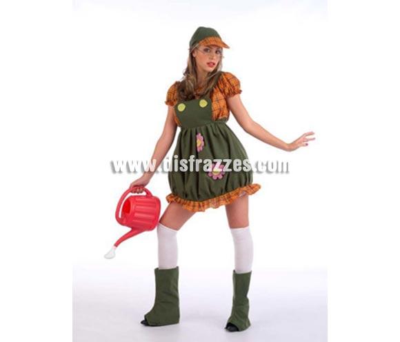 Disfraz de Lolita's Jardinera Deluxe. Alta calidad. Hecho en España. Disponible en varias tallas. Incluye vestido, gorro y cubrebotas. Regadera y medias NO incluidas.