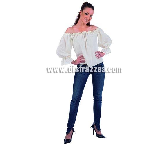 Camisa de Tabernera, Mesonera o Posadera Deluxe. Alta calidad. Incluye camisa. Disponible en varias tallas. Por si quieres renovar o hacer un disfraz Medieval para mujer.