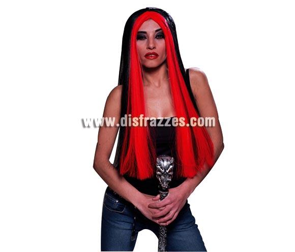 Peluca de Bruja con mechón rojo para Halloween.