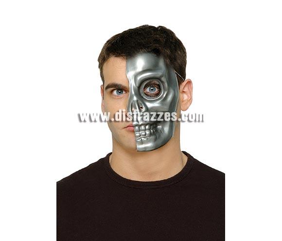 Máscara de Cyborg Terminator Calavera plata.