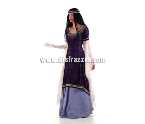 Disfraz de Princesa de los Elfos Extralujo. Alta calidad en telas y acabados. Fabricado en España. Disponible en varias tallas. Incluye falda, vestido y corona. También es perfecto como disfraz de Princesa, Doncella, Dama o Damisela Medieval.