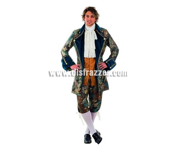 Disfraz de Época Philippe Extralujo. Alta calidad en telas y acabados. Fabricado en España. Disponible en varias tallas. Incluye pantalón, cuello y chaqueta con chaleco.