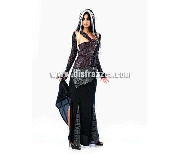 Disfraz de Vampiresa Reptíl Deluxe para mujer. Alta calidad, hecho en España. Disponible en varias tallas. Incluye corpiño, falda y manguitos. Peluca NO incluida, podrás encontrar en nuestra sección de Complementos.