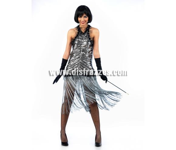 Disfraz de Charlestón Deluxe para mujer. Alta calidad, hecho en España. Disponible en varias tallas. Incluye vestido. Guantes NO incluidos, podrás encontrar en nuestra sección de Complementos.