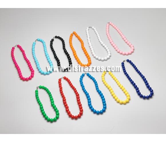 Collar Andaluza bolas mediano de 25 cm. Colores variados, se venden por separado, precio por unidad. Ideal como complemento para disfraces de Sevillana, Flamenca, Faralae, Gitana, etc.