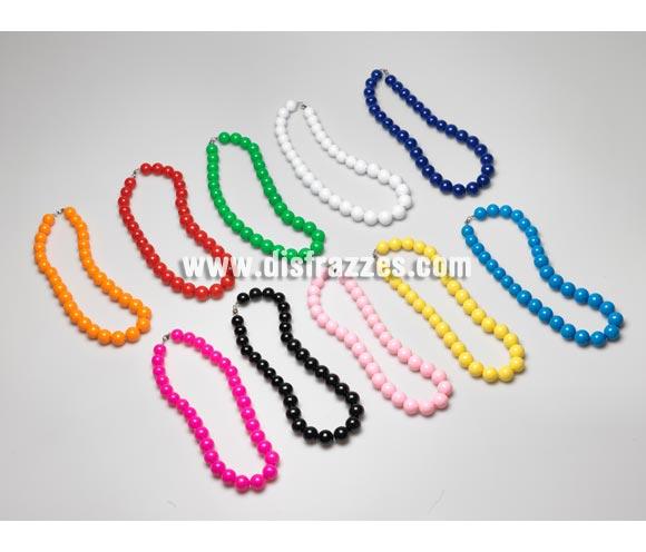 Collar Andaluza bolas grande de 27 cm. Colores variados, se venden por separado, precio por unidad. Ideal como complemento para disfraces de Sevillana, Flamenca, Faralae, Gitana, etc.