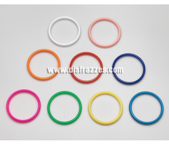 Pulsera Andaluza pequeña de 5,9 cm. de diámetro y 1 cm de grosor. Colores variados, se venden por separado, precio por unidad. Ideal como complemento para disfraces de Sevillana, Flamenca, Faralae, Gitana, etc.