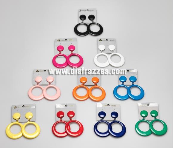 Pendientes Andaluza pequeños de 7 cm. Colores variados, se venden por separado, precio por unidad. Ideal como complemento para disfraces de Sevillana, Flamenca, Faralae, Gitana, etc.