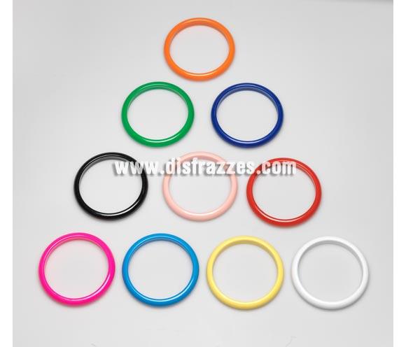 Pulsera Andaluza grande de 6,8 cm. de diámetro y 1 cm de grosor. Colores variados, se venden por separado, precio por unidad. Ideal como complemento para disfraces de Sevillana, Flamenca, Faralae, Gitana, etc.